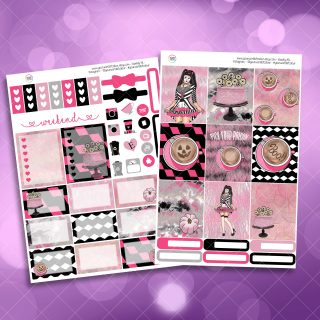 Pick Your Poison Two Sheet Weekly Planner Sticker Kit
