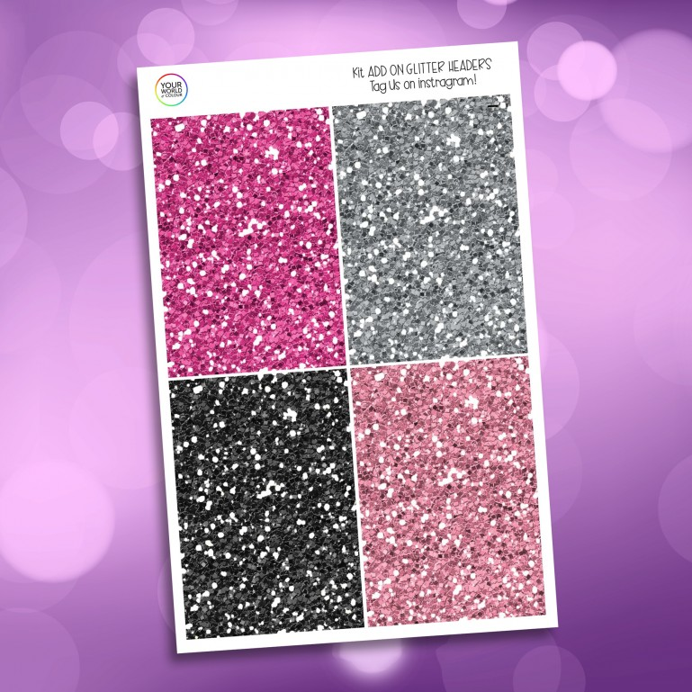 Pick Your Poison Glitter Headers Add On