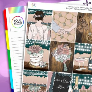 Love You More Erin Condren Weekly Planner Sticker Kit