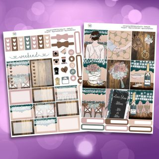 Love You More Two Sheet Weekly Planner Sticker Kit