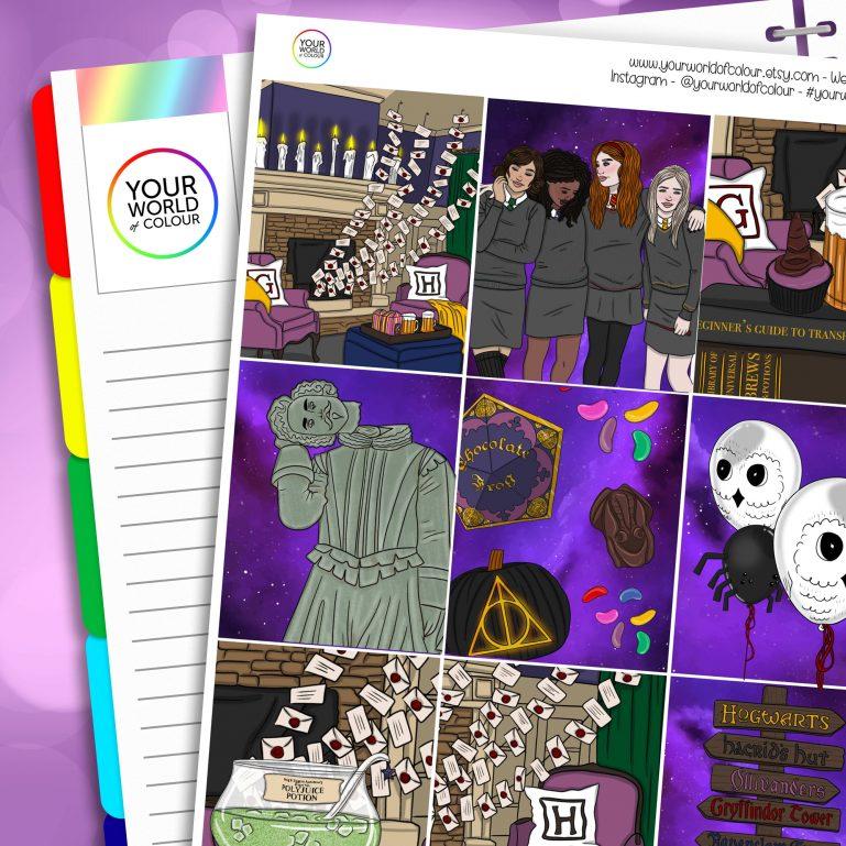 Wizard Party Erin Condren Weekly Planner Sticker Kit