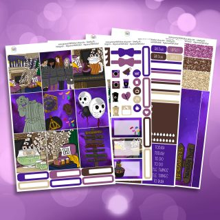 Wizard Party Full Four Sheet Weekly Planner Sticker Kit