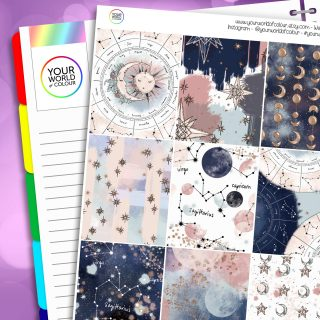 Beyond The Stars Erin Condren Weekly Planner Sticker Kit