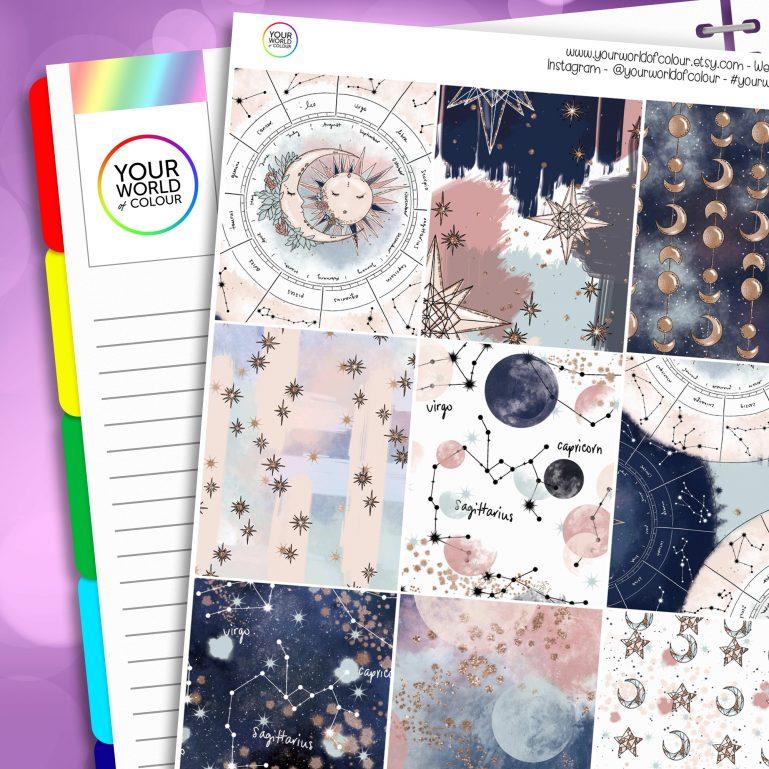 Beyond The Stars Erin Condren Weekly Planner Sticker Kit