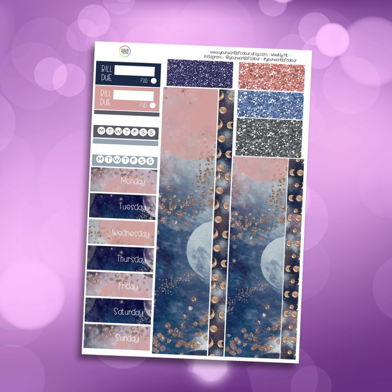 Beyond The Stars Washi and Date Cover Stickers