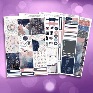 Beyond The Stars Full Four Sheet Weekly Planner Sticker Kit
