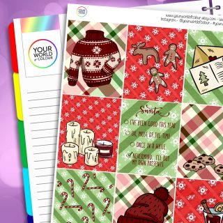Dear Santa Erin Condren Weekly Planner Sticker Kit
