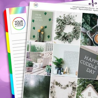 Green Faze Erin Condren Weekly Planner Sticker Kit