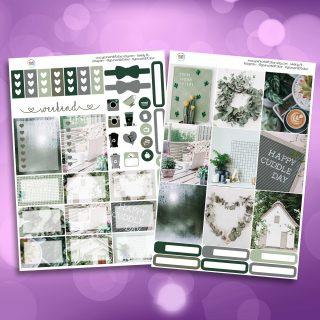 Green Faze Two Sheet Weekly Planner Sticker Kit
