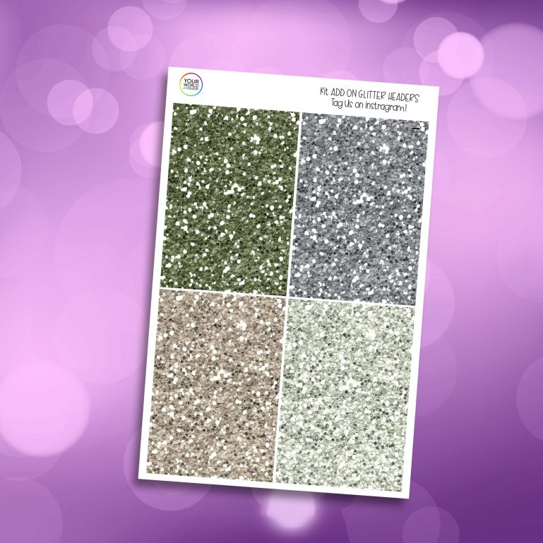 Green Faze Glitter Headers Add On