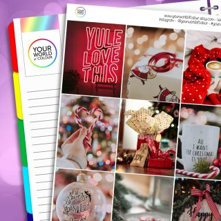 Yule Erin Condren Weekly Planner Sticker Kit