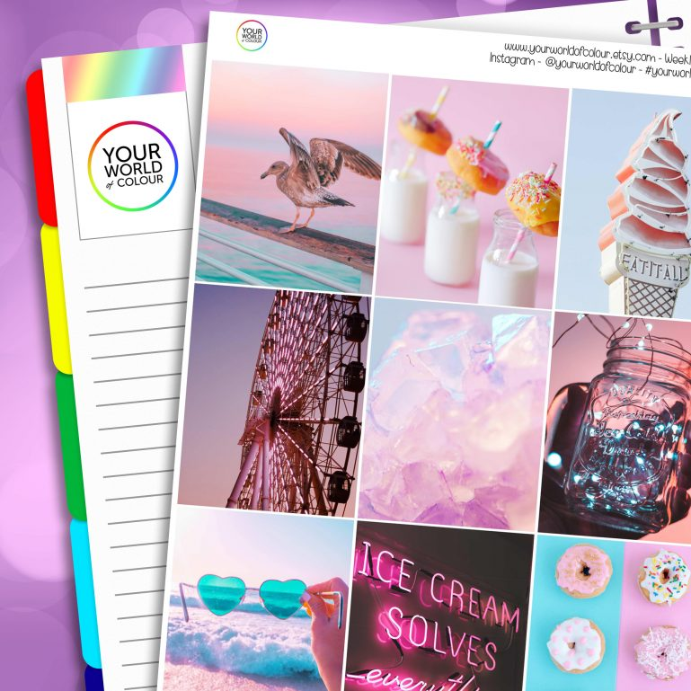Summer Paradise Life Erin Condren Weekly Planner Sticker Kit