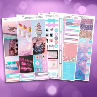 Summer Paradise Life Full Four Sheet Weekly Planner Sticker Kit