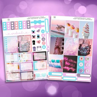 Summer Paradise Life Two Sheet Weekly Planner Sticker Kit