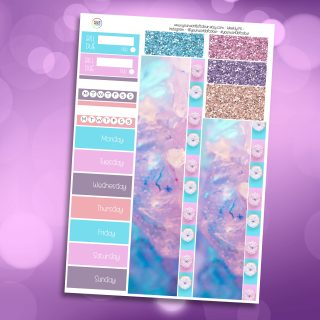 Summer Paradise Life Washi and Date Cover Stickers
