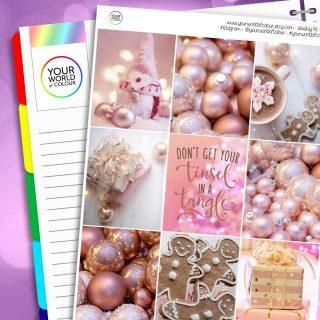 Pink Christmas Erin Condren Weekly Planner Sticker Kit