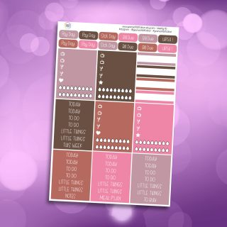 Pink Christmas Header Stickers