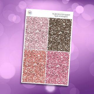 Pink Christmas Glitter Headers Add On