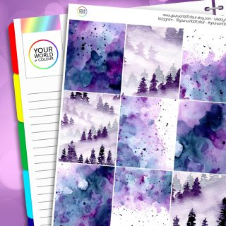 Mystic Erin Condren Weekly Planner Sticker Kit