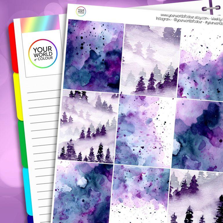 Mystic Erin Condren Weekly Planner Sticker Kit