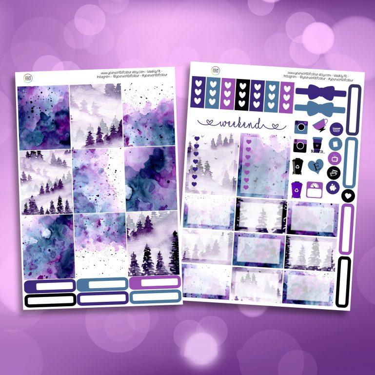 Mystic Two Sheet Weekly Planner Sticker Kit