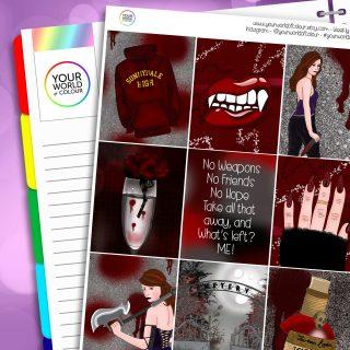 Buffy The Vampire Slayer Erin Condren Weekly Planner Sticker Kit