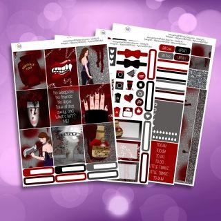 Buffy The Vampire Slayer Full Four Sheet Weekly Planner Sticker Kit