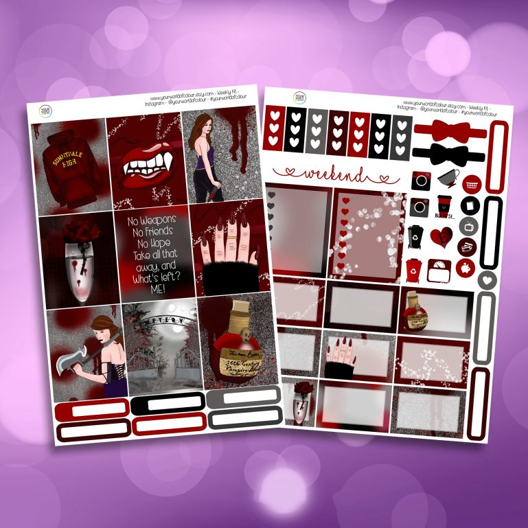 Buffy The Vampire Slayer Two Sheet Weekly Planner Sticker Kit
