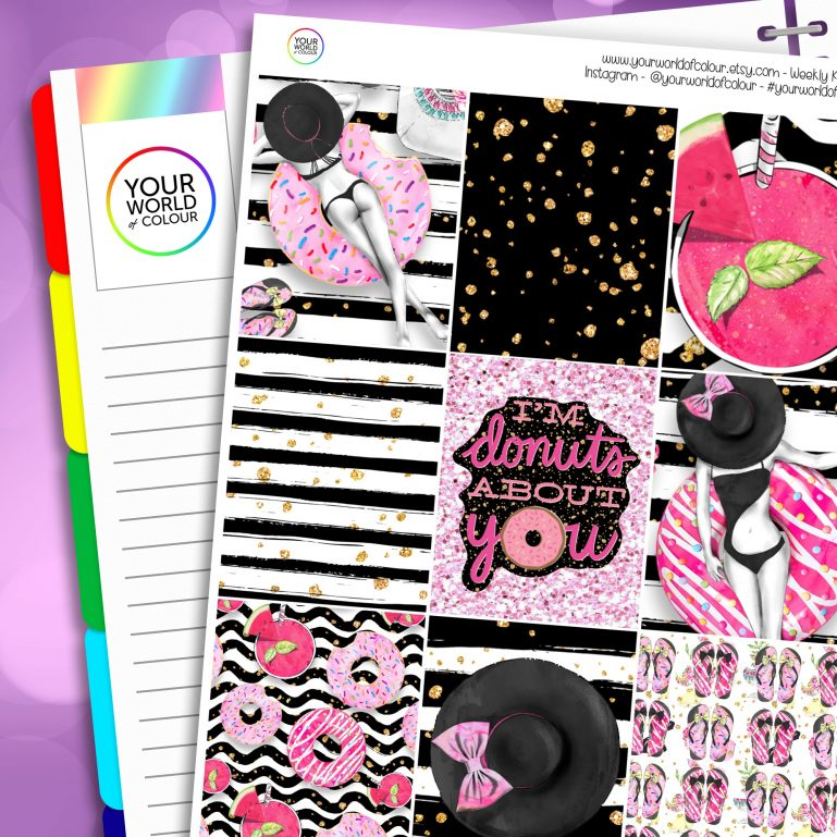 Donut's About You Erin Condren Weekly Planner Sticker Kit