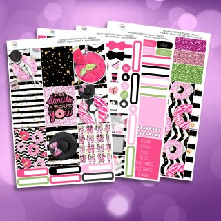 Donut's About You Full Four Sheet Weekly Planner Sticker Kit