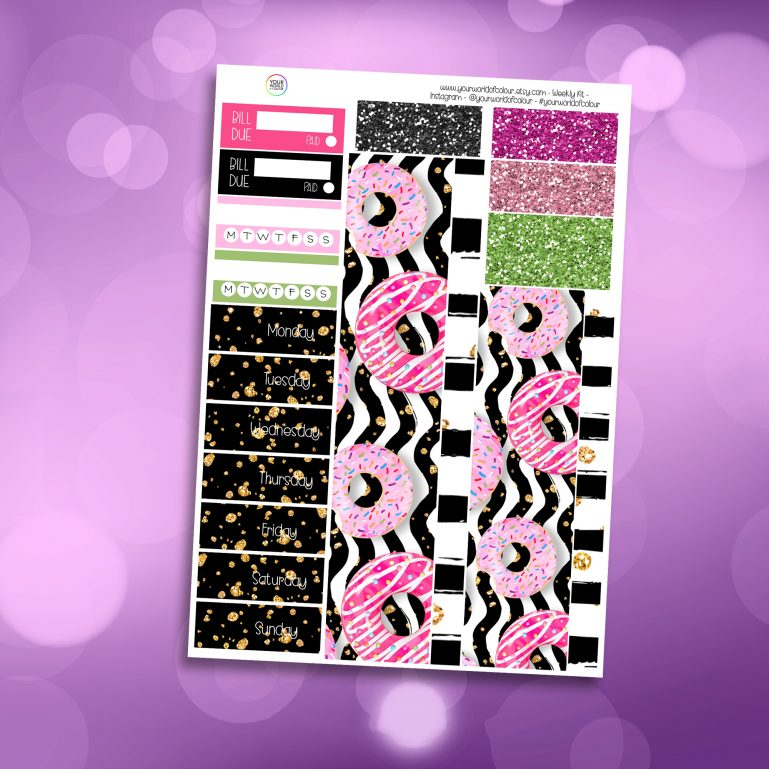 Donut's About You Washi and Date Cover Stickers