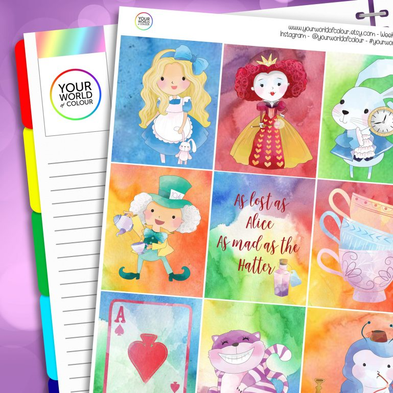 All Mad Erin Condren Weekly Planner Sticker Kit