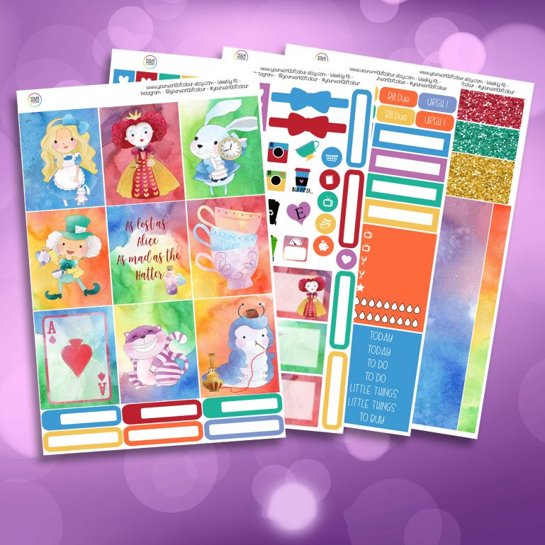All Mad Full Four Sheet Weekly Planner Sticker Kit