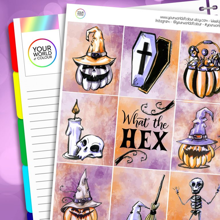 What The Hex Erin Condren Weekly Planner Sticker Kit