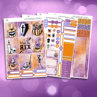 What The Hex Full Four Sheet Weekly Planner Sticker Kit