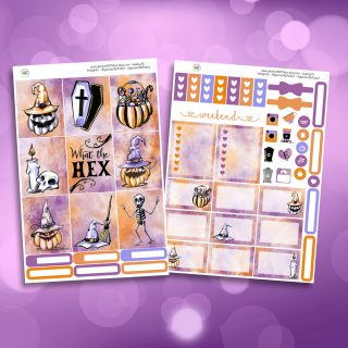What The Hex Two Sheet Weekly Planner Sticker Kit