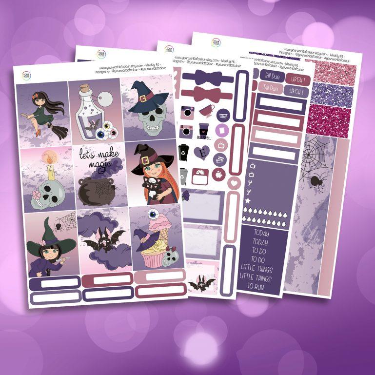 Make Magic Full Four Sheet Weekly Planner Sticker Kit