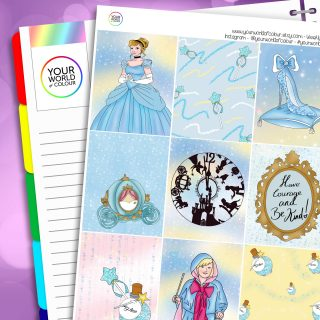 Cinders Erin Condren Weekly Planner Sticker Kit