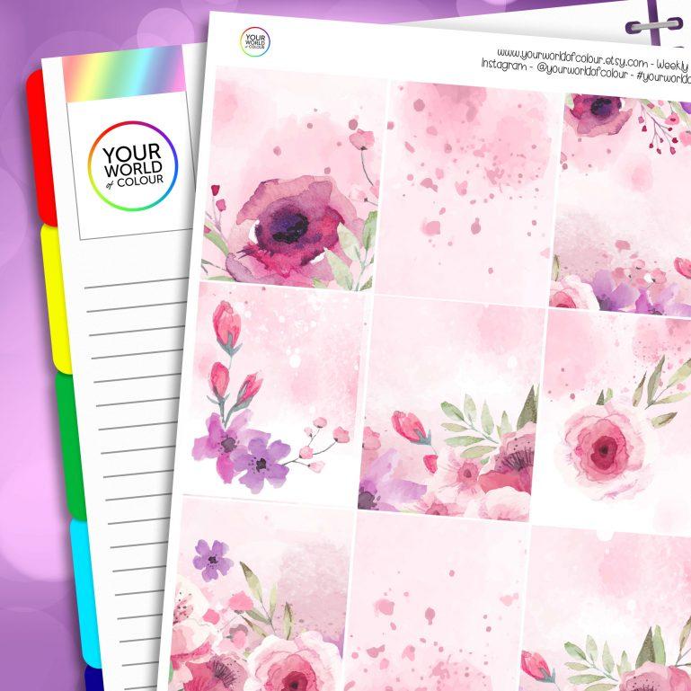 Bloom Erin Condren Weekly Planner Sticker Kit