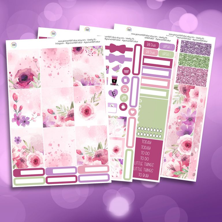 Bloom Full Four Sheet Weekly Planner Sticker Kit