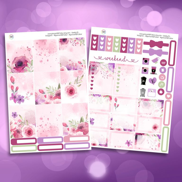 Bloom Two Sheet Weekly Planner Sticker Kit