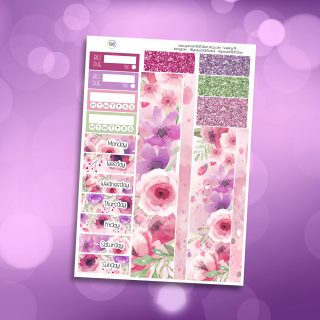Bloom Washi and Date Cover Stickers