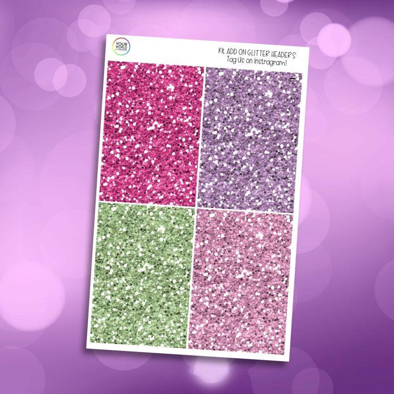 Bloom Glitter Headers Add On