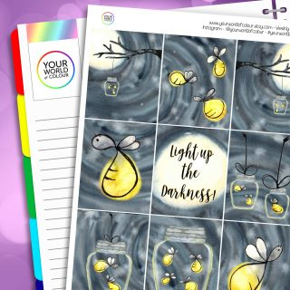 Light Up The Darkness Erin Condren Weekly Planner Sticker Kit