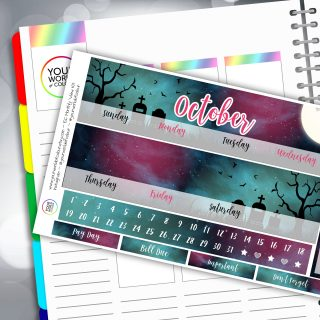 Mystic Nights Erin Condren Monthly Sticker Kit