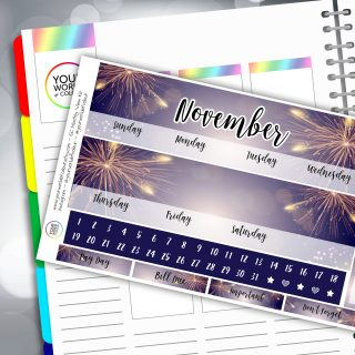 Fireworks Erin Condren Monthly Sticker Kit