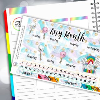 Birthday Party Erin Condren Monthly Sticker Kit