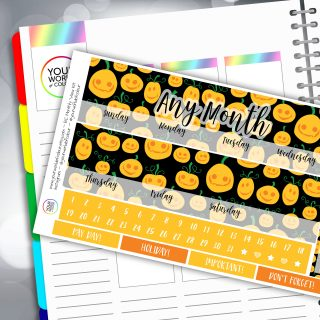 Pumpkin Juice Erin Condren Monthly Sticker Kit