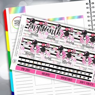 Donut Care Erin Condren Monthly Sticker Kit