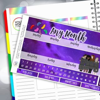 Harry Potter Inspired Erin Condren Monthly Sticker Kit